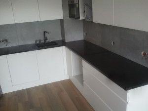 blaty kuchenne wrocław z granitu jet black