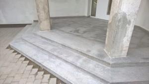 schody z granitu Bianco new Cristal