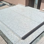 schody z granitu Gris Parga