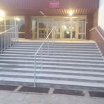 schody z granitu Blanco Aurora